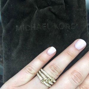 Michael Kors stacked rings